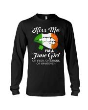 KISS ME I'M JUNE GIRL Long Sleeve Tee thumbnail