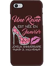 Janvier Joyeux Anniversaire Tee Shirt Femme Phone Case thumbnail