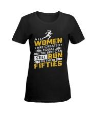 RUN FIFTIES Ladies T-Shirt women-premium-crewneck-shirt-front