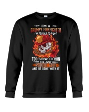 Grumpy firefighter Crewneck Sweatshirt thumbnail