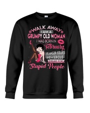 GRUMPY OLD WOMAN FEBRUARY Crewneck Sweatshirt thumbnail