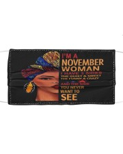 NOVEMBER WOMAN-D Cloth face mask front