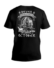 OCTOBER MAN  V-Neck T-Shirt thumbnail