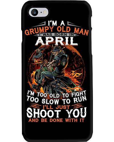 Grumpy old man April tee Cool T shirts for Men