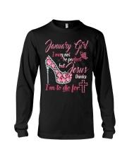 January Tshirt Printing Birthday shirts for Women Long Sleeve Tee thumbnail