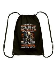 H- OCTOBER MAN Drawstring Bag thumbnail