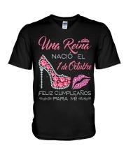 1 DE OCTUBRE V-Neck T-Shirt tile