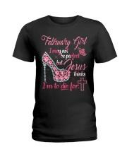 February shirt Printing Birthday shirts for Women Ladies T-Shirt front