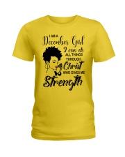 DECEMBER GIRL Ladies T-Shirt tile
