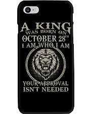 OCTOBER KING 28 Phone Case tile