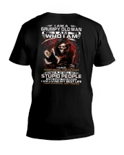 GRUMPY OLD MAN STUPID PEOPLE V-Neck T-Shirt thumbnail