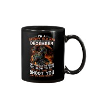 H Grumpy old man December tee Cool Tshirts for Men Mug thumbnail