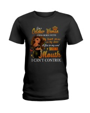 OCTOBER WOMAN Ladies T-Shirt front