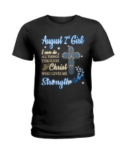 2nd August christ Ladies T-Shirt thumbnail