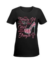FEBRUARY GIRL Z Ladies T-Shirt women-premium-crewneck-shirt-front