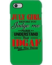 H - JULY GIRL Phone Case tile
