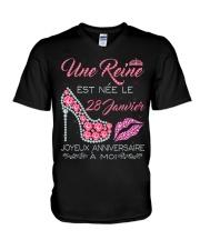 28 Janvier V-Neck T-Shirt thumbnail