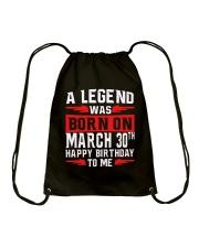 30th March legend Drawstring Bag thumbnail
