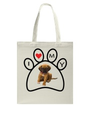 I love my dog tote Tote Bag front