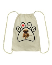 I love my dog tote Drawstring Bag thumbnail