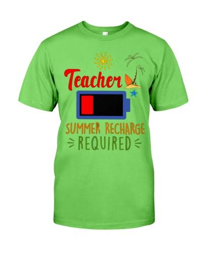 Teacher Battery Summer Recharge Required T-Shirt