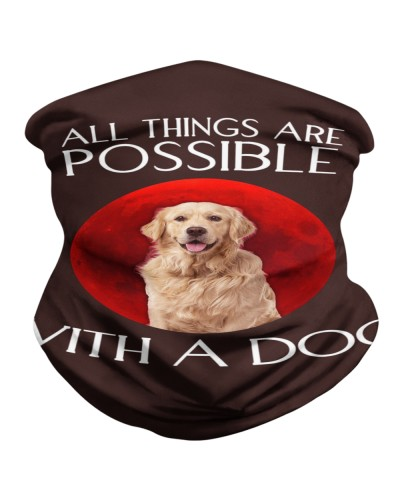 All thing are possible with a dog sunset t-shirt