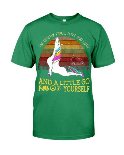 -Yoga Unicorn exhale I'm mostly peace love light