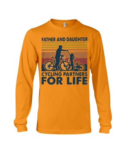Father and daughter cycling partners for life