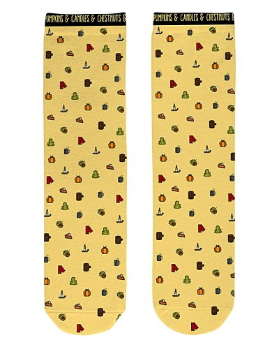 Yellow Cozy Autumn Patterned Socks
