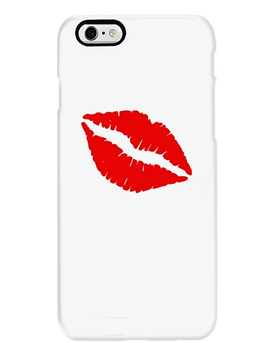 Hot Pink with Lips Phone Case