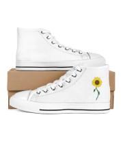 Sunflower-Fall Design Men's High Top White Shoes thumbnail