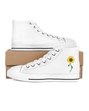 Sunflower-Fall Design Women's High Top White Shoes thumbnail