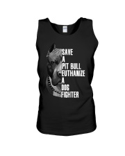 Save A Pitbull Euthanize A Dog Fighter shirts Unisex Tank thumbnail