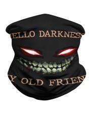 Hello darkness my old friend Neck Gaiter tile