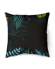 "Jungle palm echo Indoor Pillow - 18"" x 18"" back"