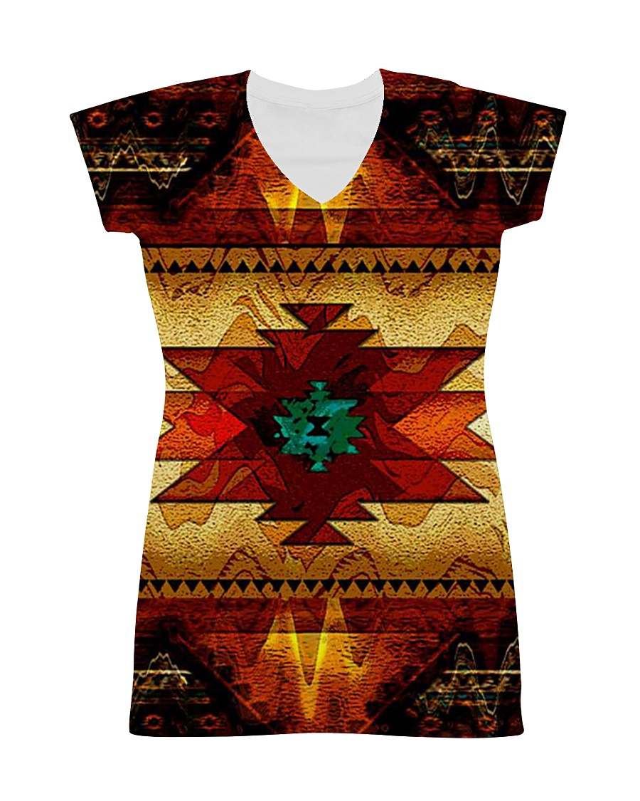 Native Pattern All-over Dress