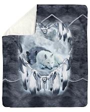 """Lovely Wolf Sherpa Fleece Blanket - 50"""" x 60"""" thumbnail"""