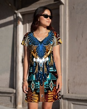 Pattern Feather All-over Dress aos-dress-front-lifestyle-1