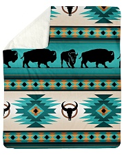 "Aztec Native Navajo Sherpa Fleece Blanket - 50"" x 60"" thumbnail"