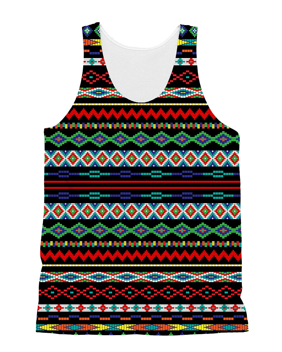 Black Pattern All-over Unisex Tank