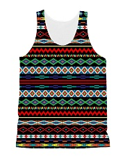 Black Pattern All-over Unisex Tank front