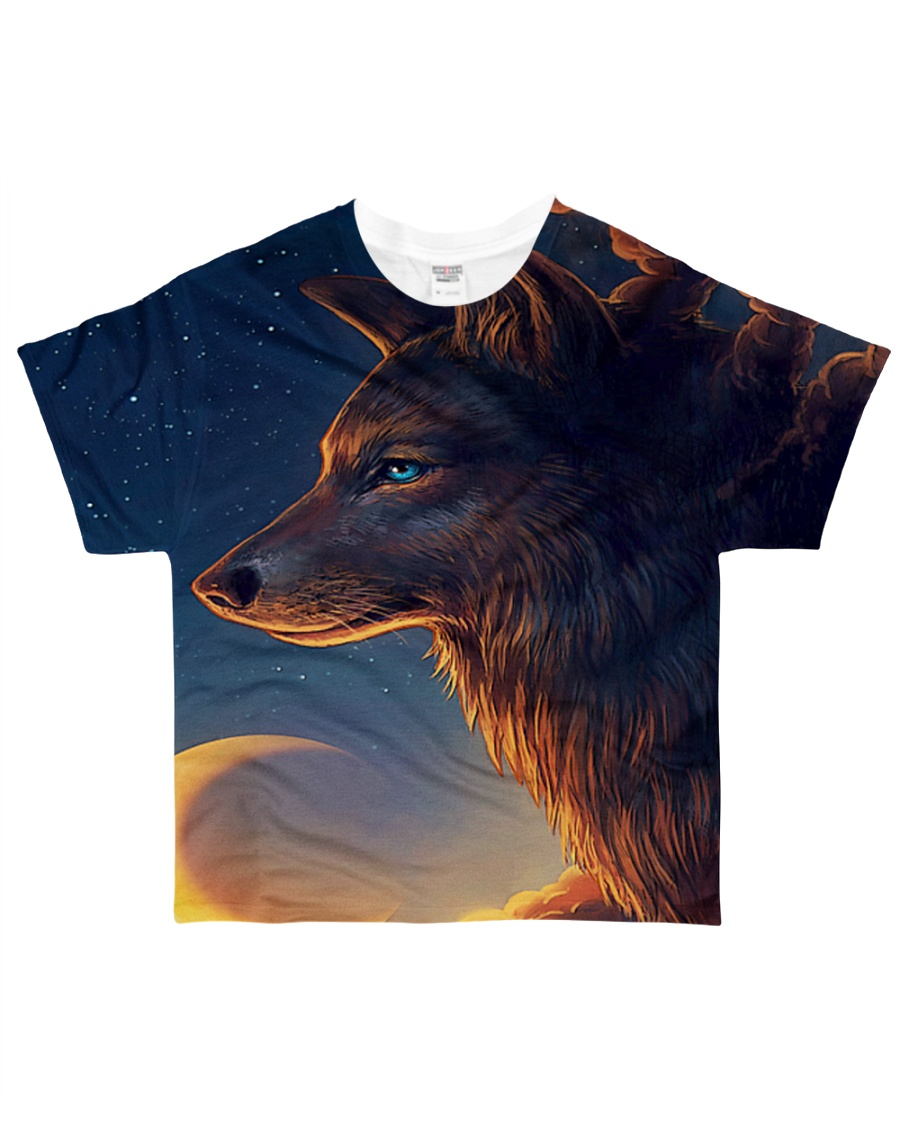 Night Wolf All-over T-Shirt