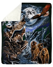 "Animal Spirit 2 Sherpa Fleece Blanket - 50"" x 60"" thumbnail"