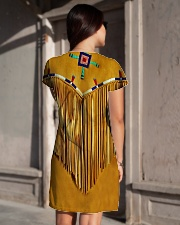 Tassels Yellow All-over Dress aos-dress-back-lifestyle-1
