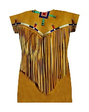Tassels Yellow All-over Dress back