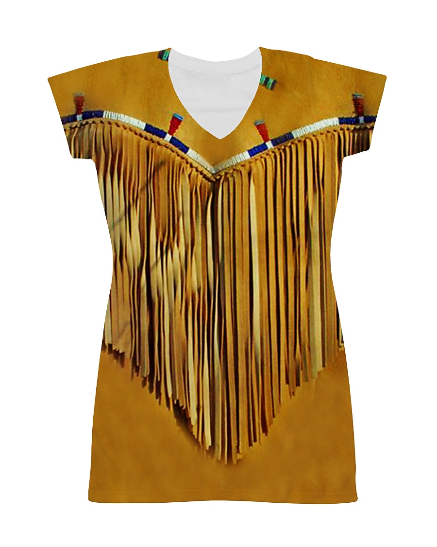 Tassels Yellow All-over Dress