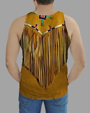 Tassels Yellow All-over Unisex Tank aos-tank-unisex-lifestyle01-back