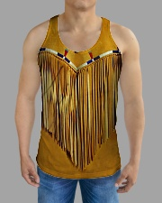 Tassels Yellow All-over Unisex Tank aos-tank-unisex-lifestyle01-front