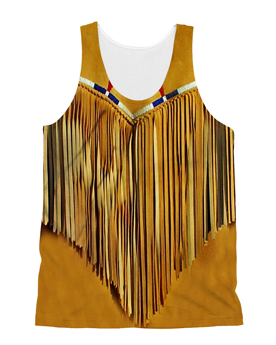 Tassels Yellow All-over Unisex Tank