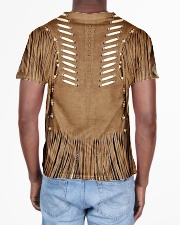 Brown Pattern All-over T-Shirt aos-all-over-T-shirt-lifestyle-back-02